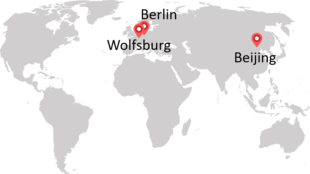 Map of Volkswagen Consulting locations