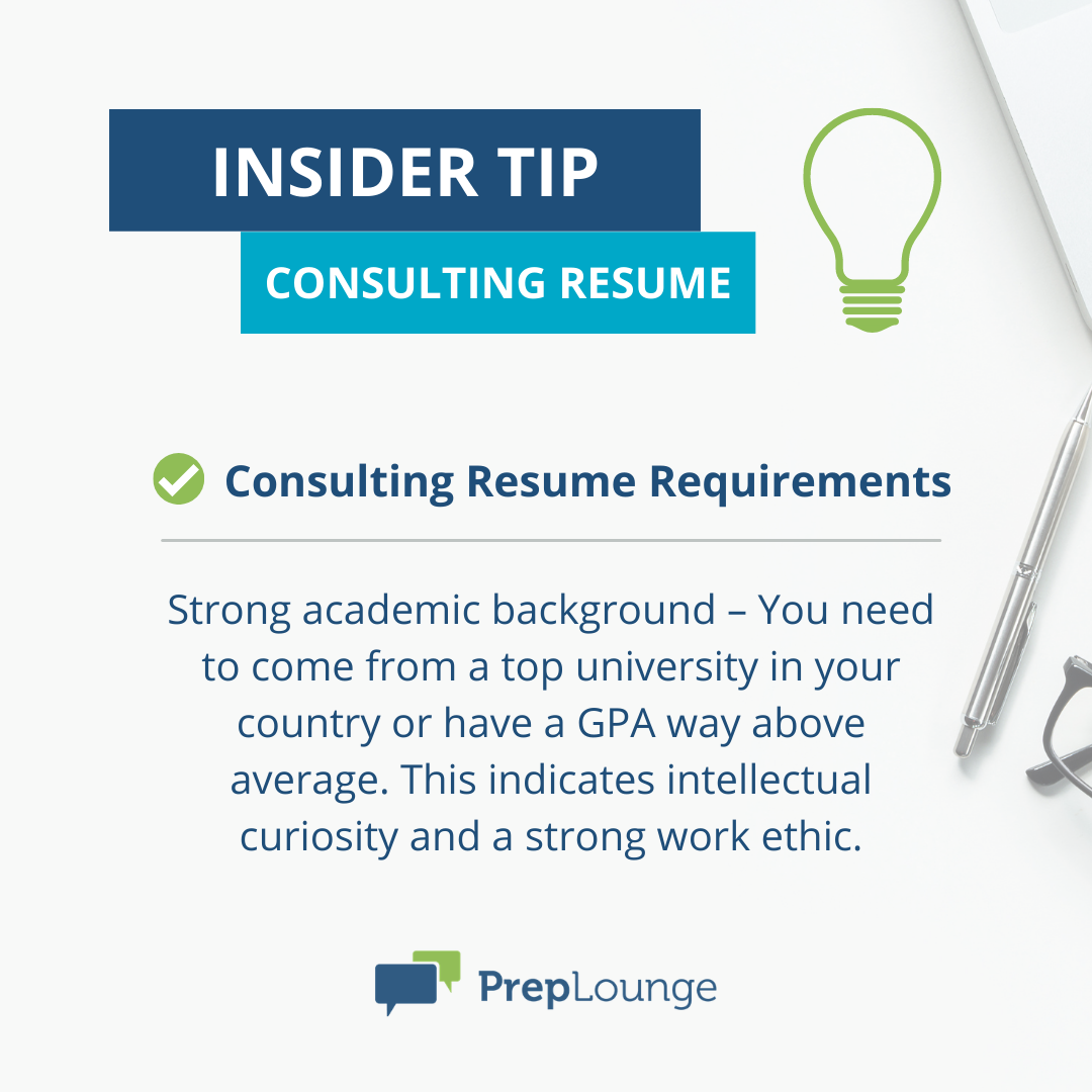 Consulting Resume Guide