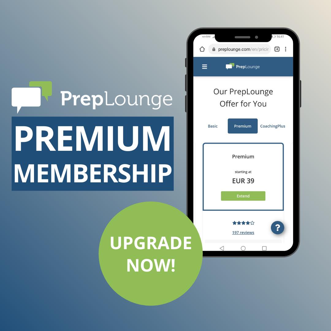 PrepLounge Premium Membership Upgrade