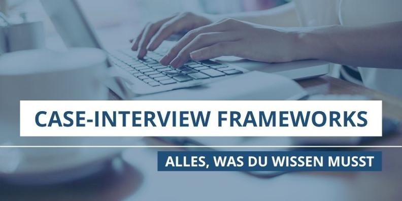 Case-Interview Framework: Arbeiten am Laptop