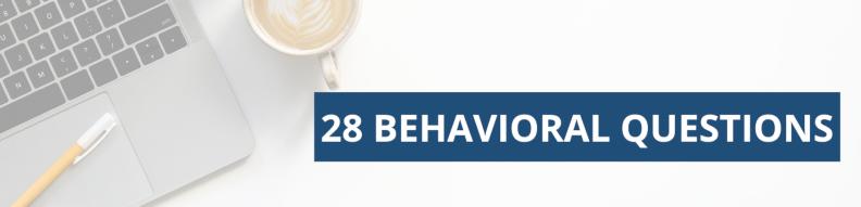 28 Behavioral Questions Banner