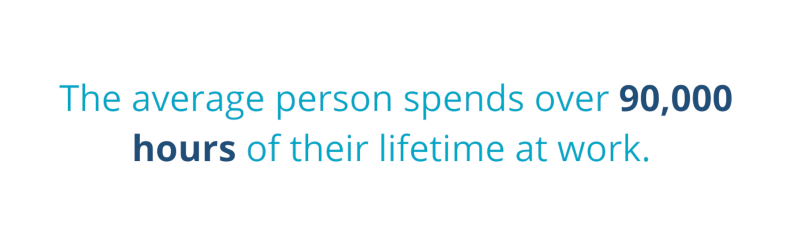 The average person spends over 90.000 hours of their lifetime at work