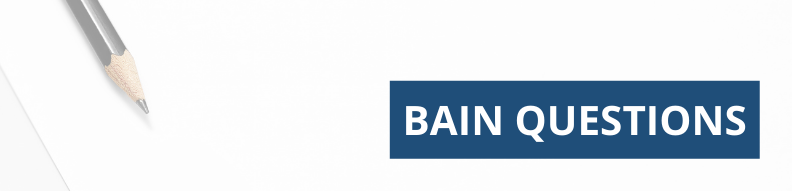Typical Bain Interview Questions