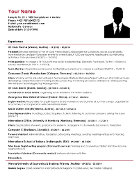 Phd resume consulting