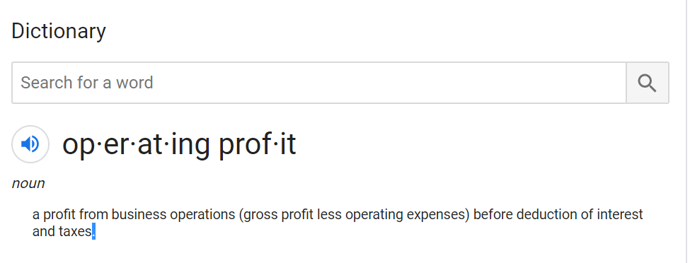 operating profit definition
