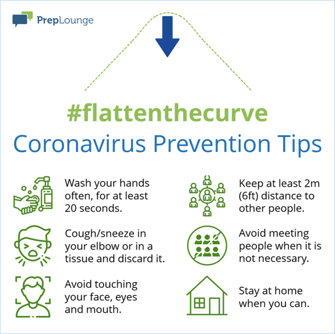 infographic corona prevention tips